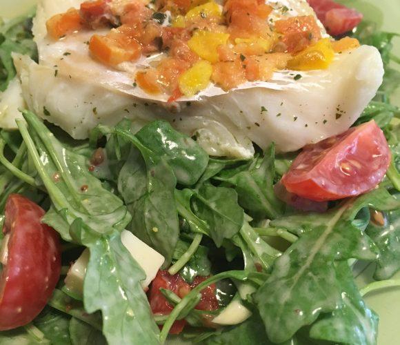 Le poisson qui fait dodo sur la salade !