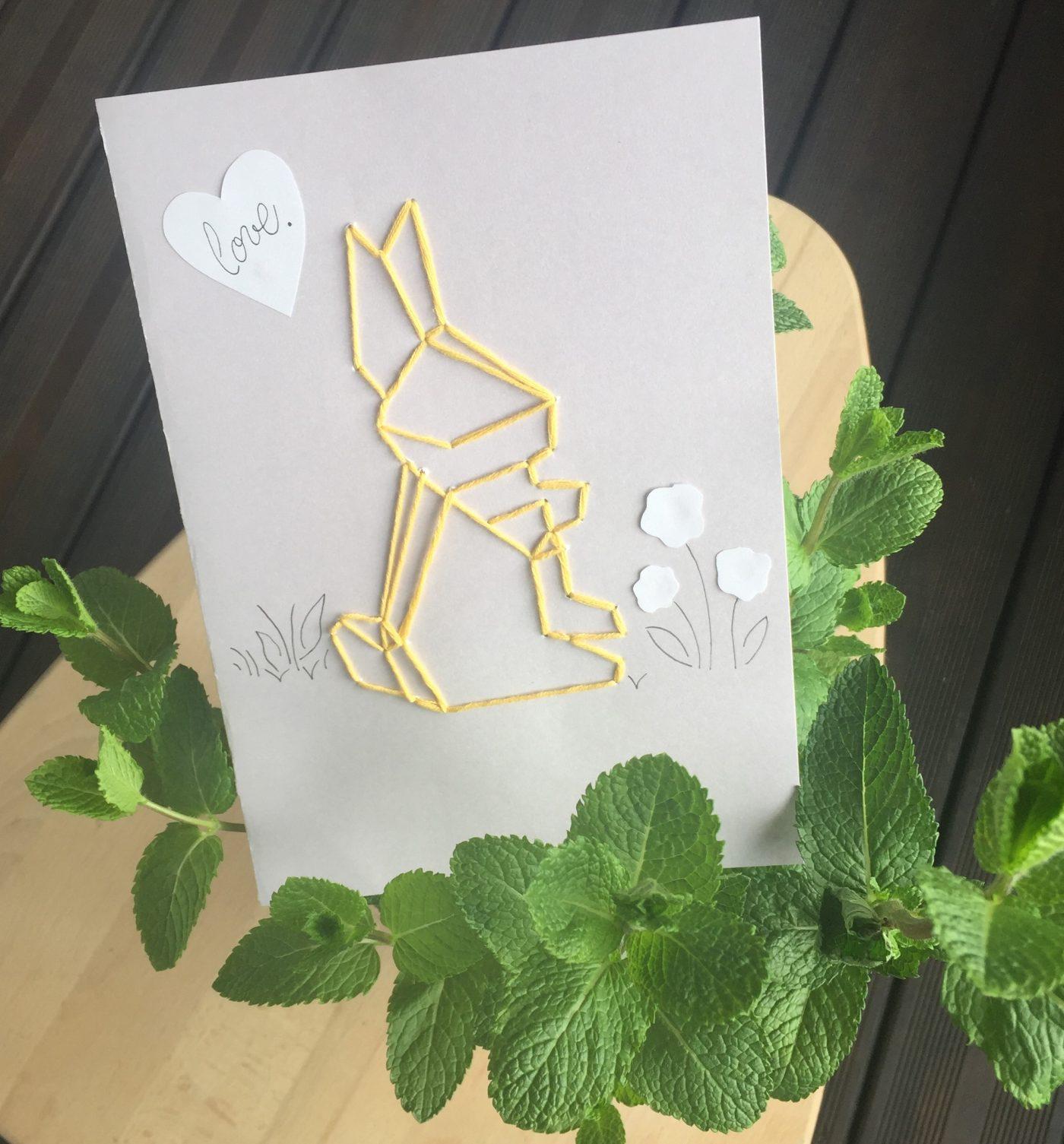 Ma carte de pâques à envoyer à mes proches !