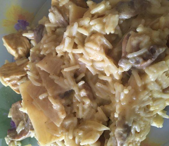 Mon plat préféré…  ma recette de dinde au curry !