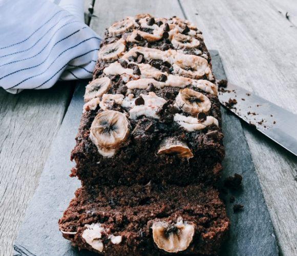 Banana bread aux 2 chocolats