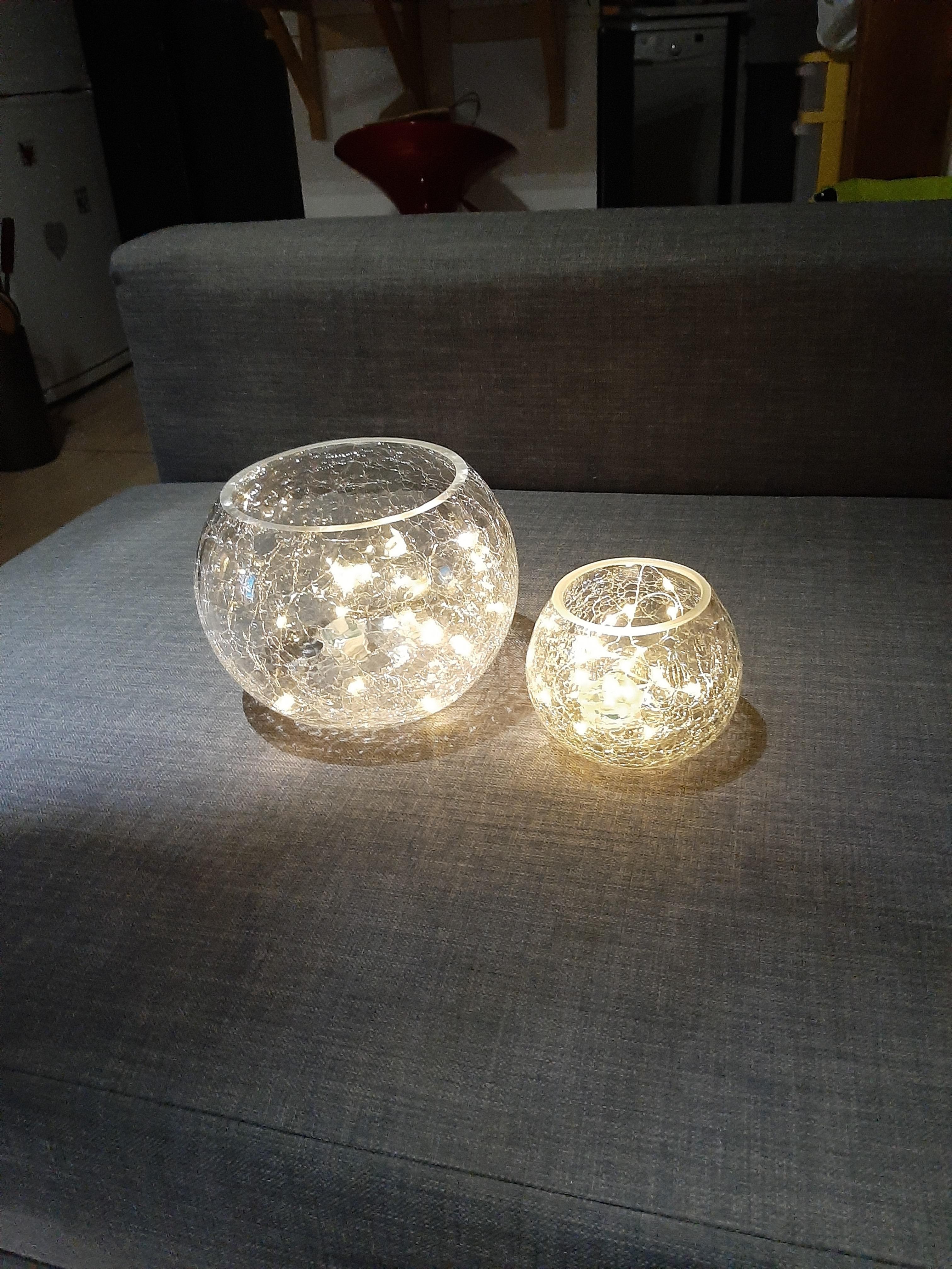 J'ai testé pour vous vases boules en verre craquelé