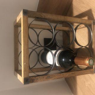 J'ai testé pour vous casier 6 bouteilles en métal et bois