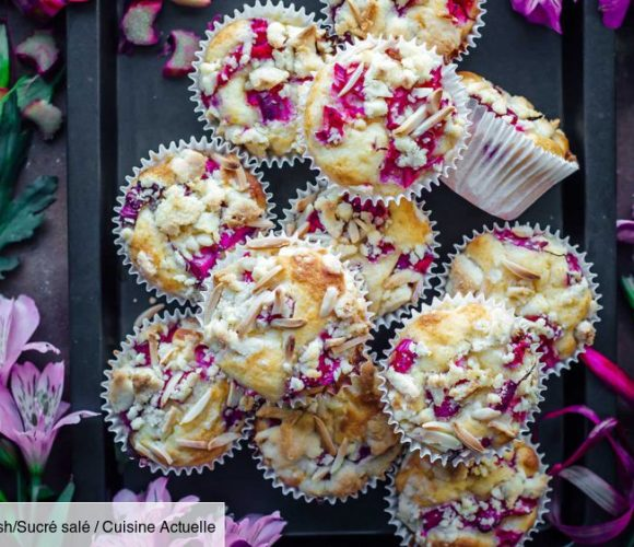 Muffins Rhubarbe, Amandes