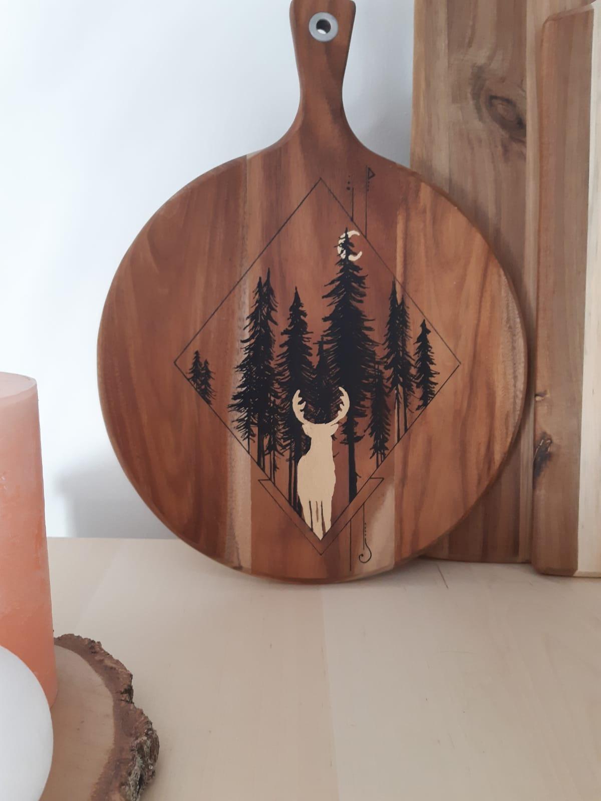 Ma planche en bois personnalisée