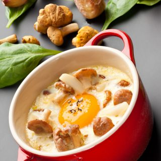 Oeuf cocotte aux Girolles