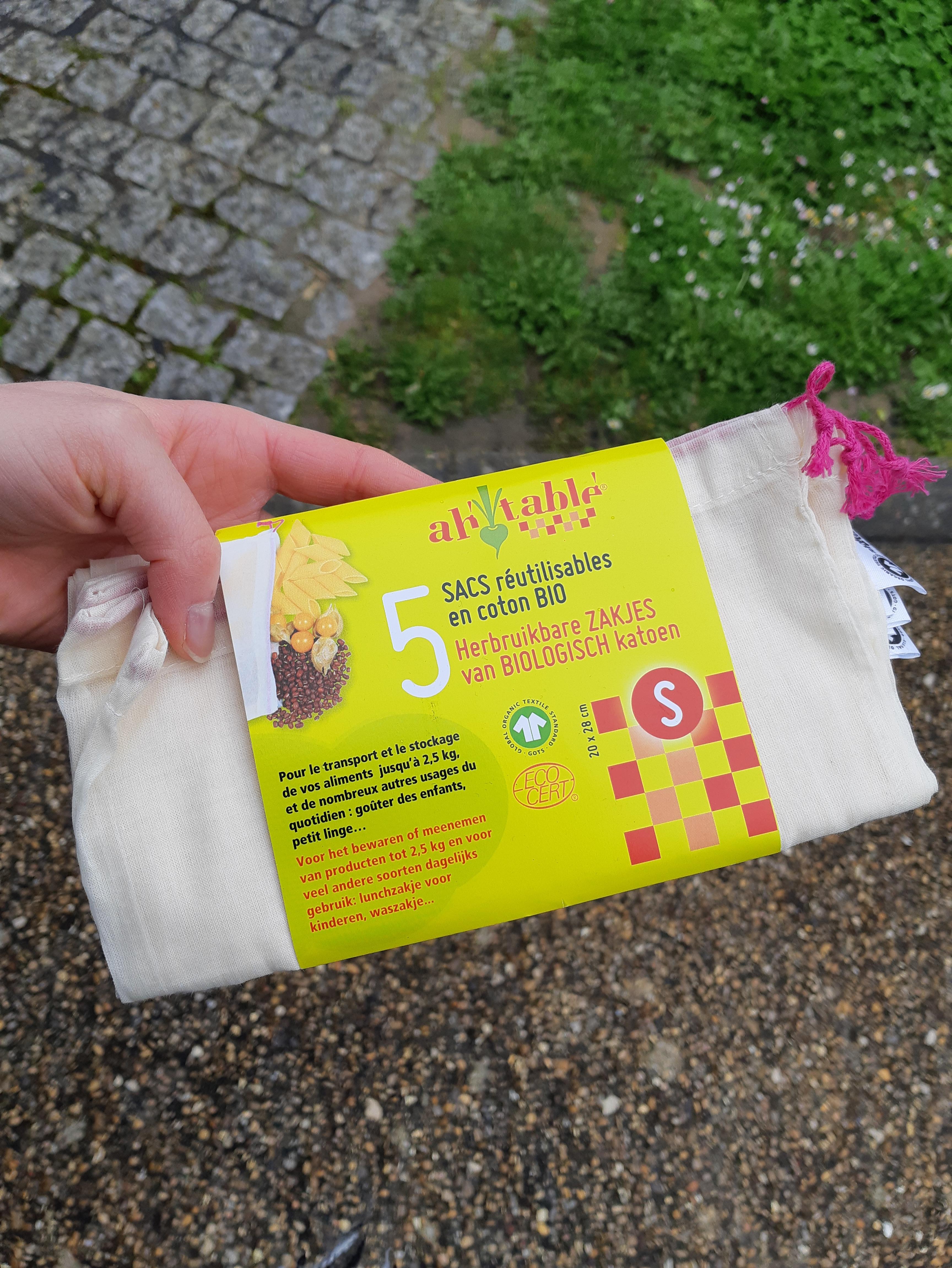 J'ai testé pour vous le sac en tissus réutilisable pour les courses
