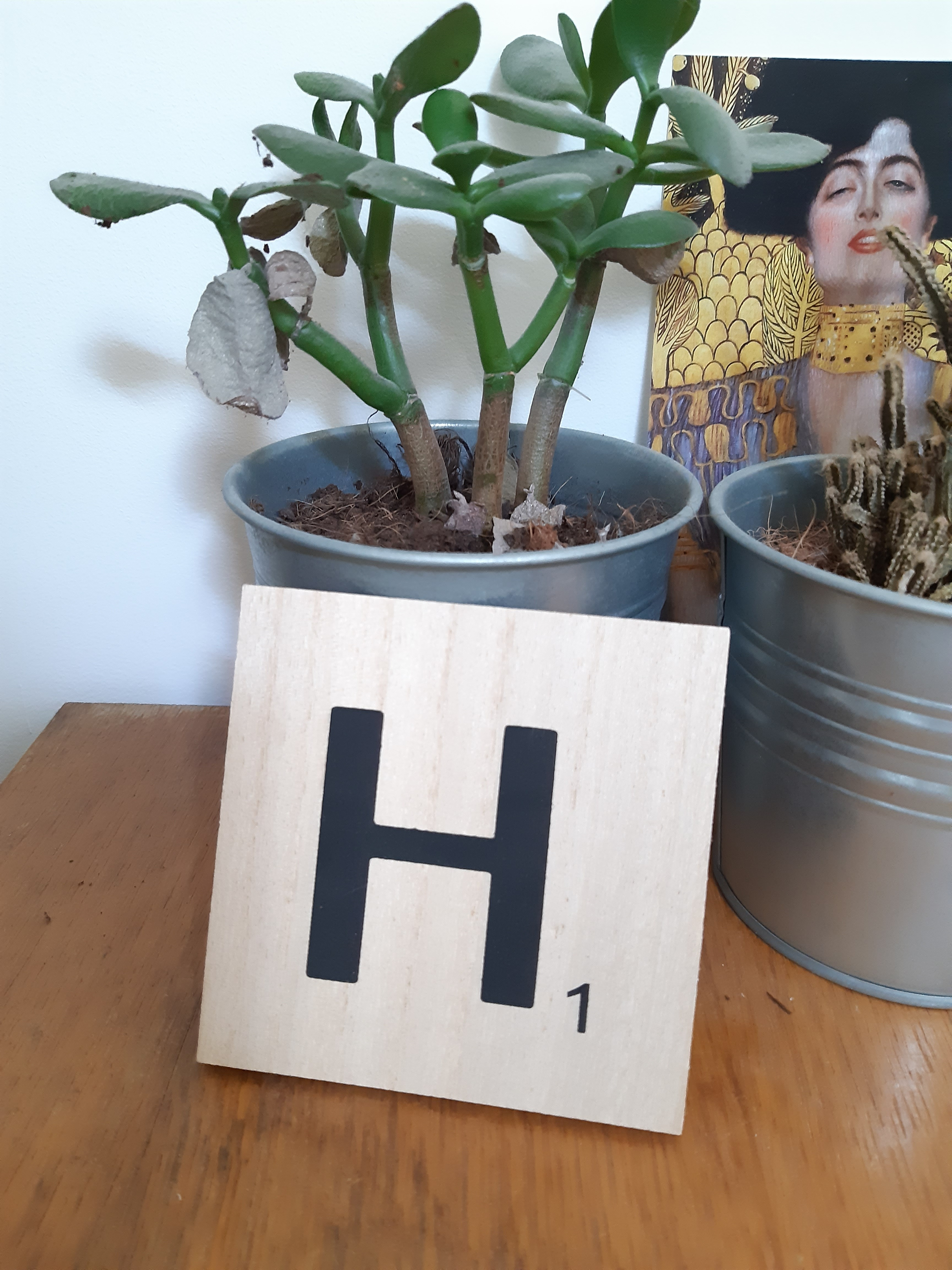 J'ai testé pour vous lettre H scrabble en bois