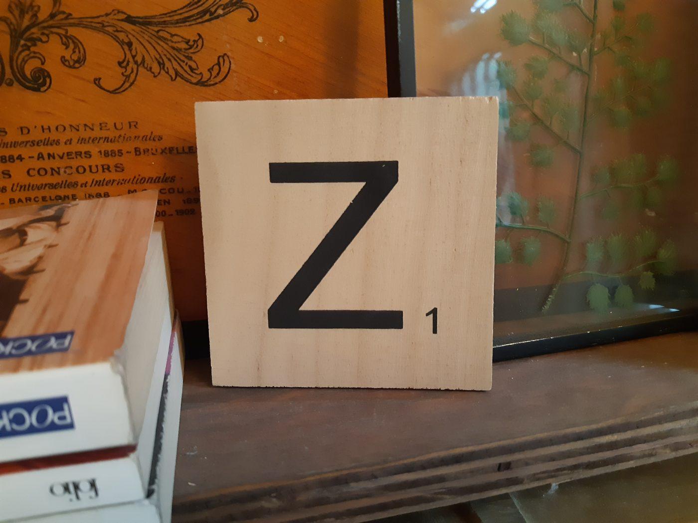 J'ai testé pour vous lettre Z en bois façon scrabble