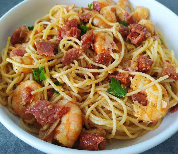 Spaghetti crevettes