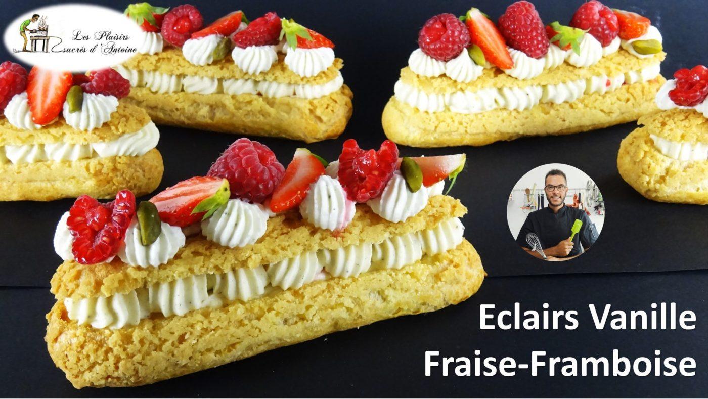 ÉCLAIRS VANILLE FRAISE FRAMBOISE