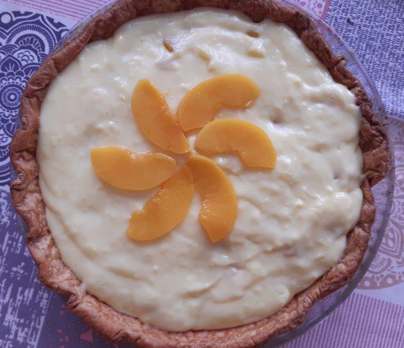 Tarte crème pâtissière & abricots
