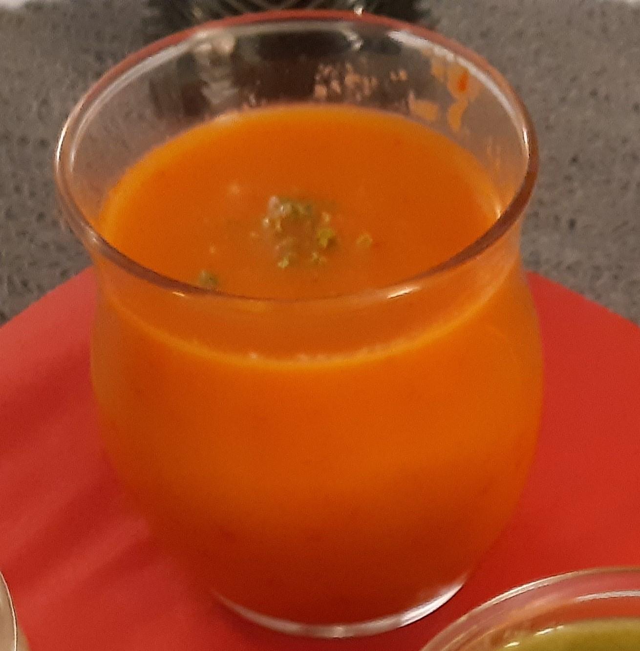 Velouté poivron rouge & citron vert