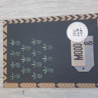 Carte scrapbooking Ananas avec la Izink Diamond