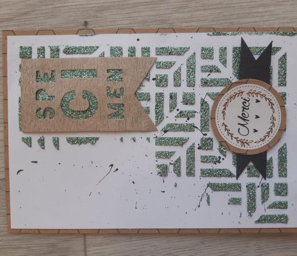 Carte avec peinture paillette Izink Diamond