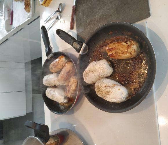Ballotine de poulet farci aux champignons