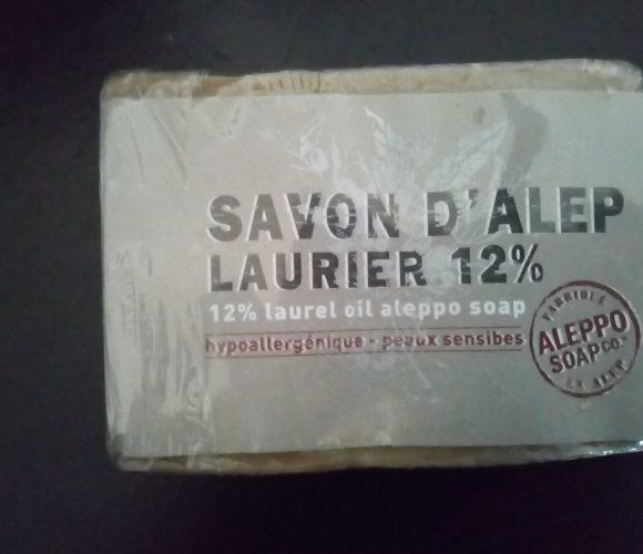 J'ai testé pour vous le savon d'alep 12% olive et laurier 200 gr