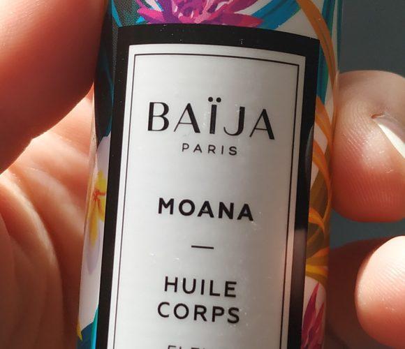 J'ai testé pour vous l'huile corps fleurs de tiaré Baija