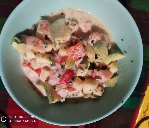 Saumon cru a la tahitienne