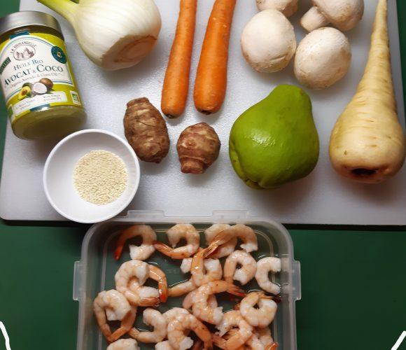 Méli-mélo aux crevettes