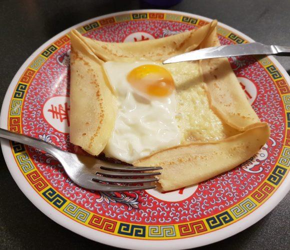 Crêpe œuf gruyère