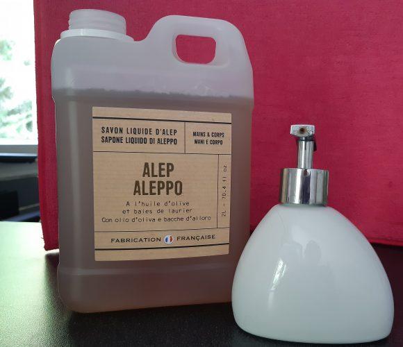 J'ai testé pour vous savon liquide Alep  2 litres