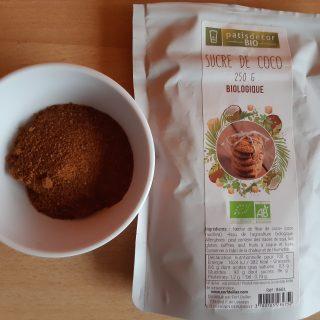 J'ai testé pour vous le sucre de coco bio  Patisdecor