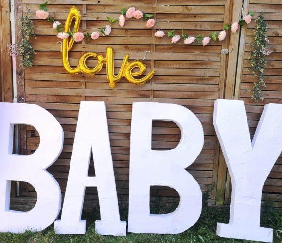 Fabrication des Lettres Géantes Baby Shower