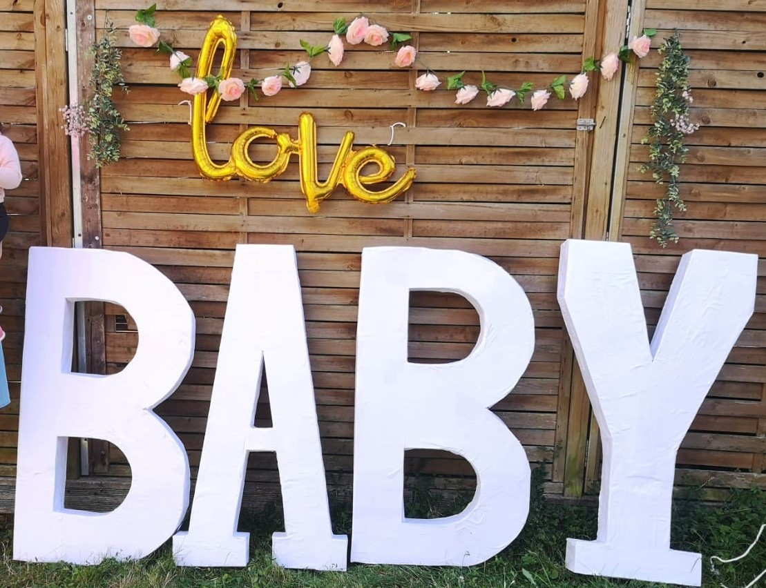 Fabrication des Lettres Géantes Baby Shower  DIY