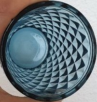 Verre diamant bleu