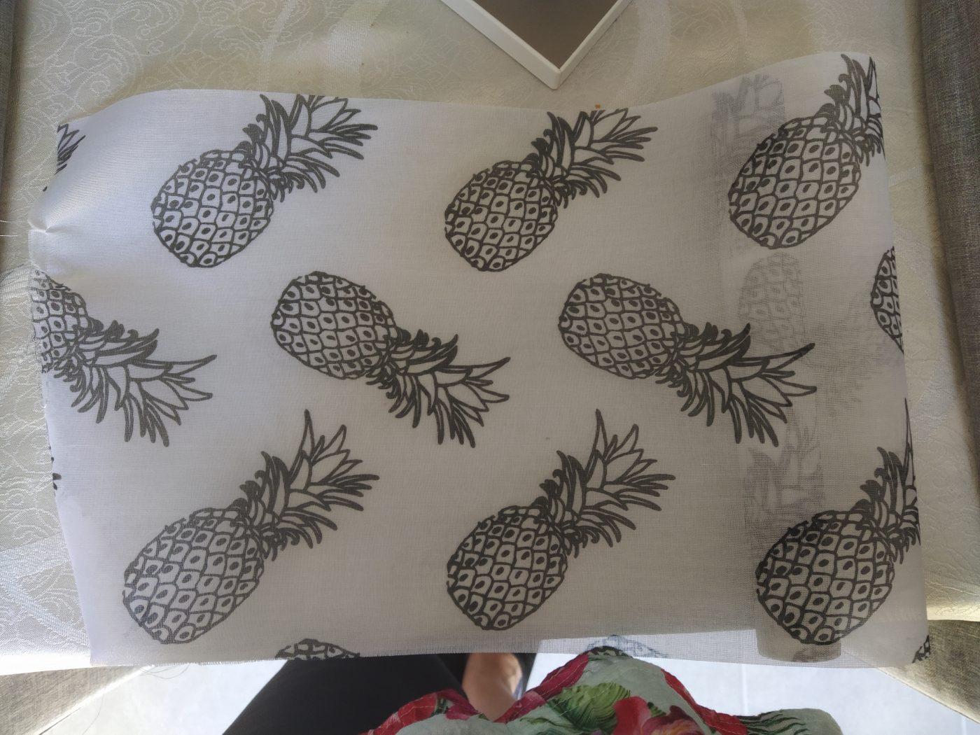 Chemin de table organes ananas