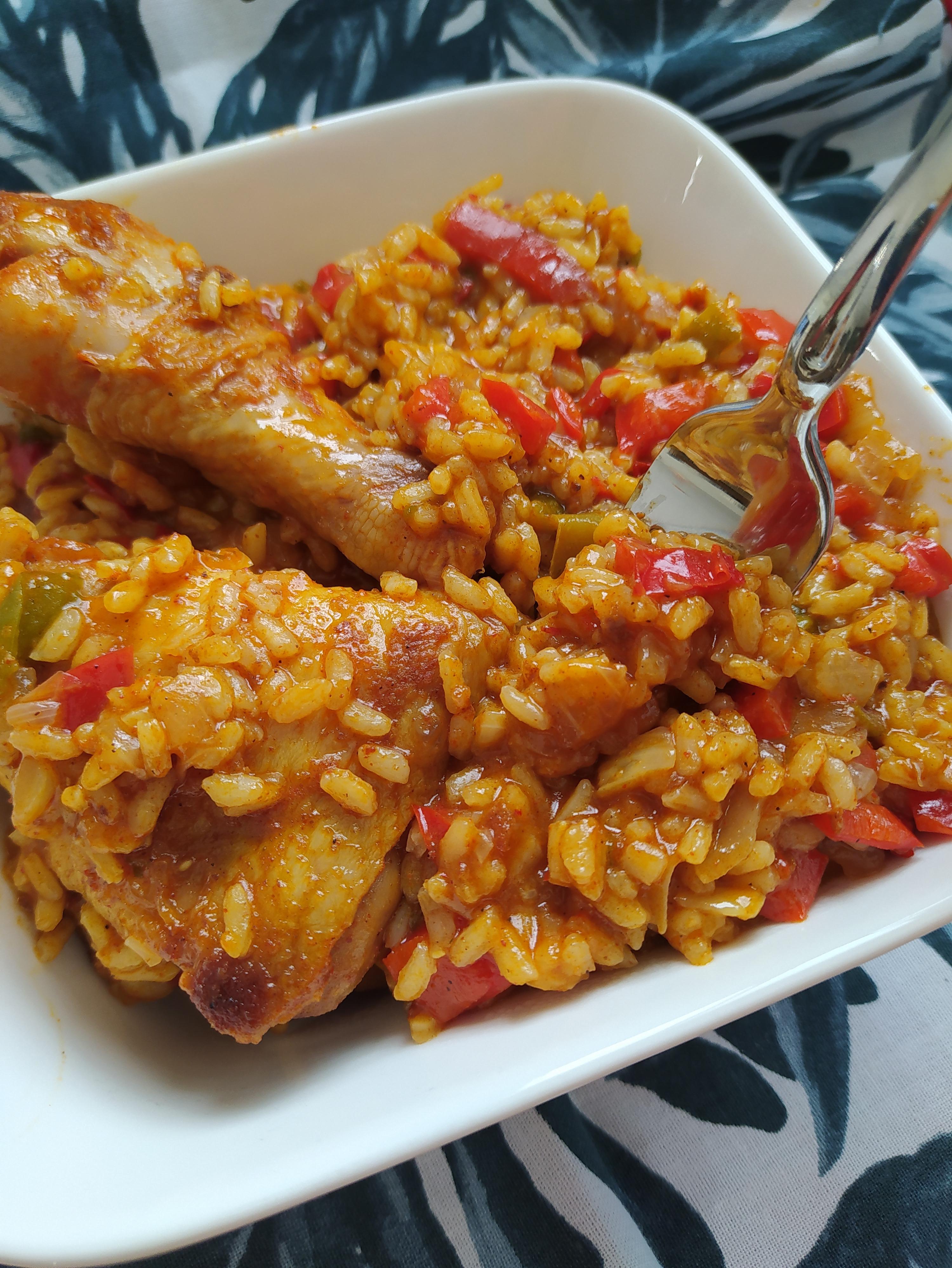 Poulet riz poivrons