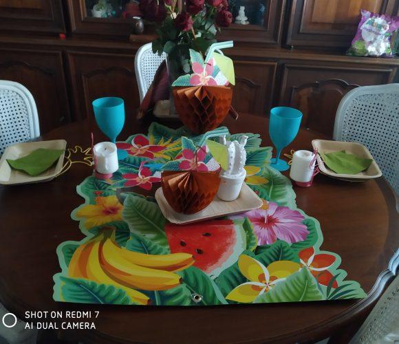 J'ai testé pour vous table coconut and flowers