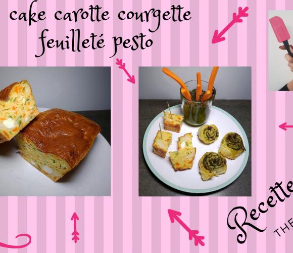 CAKE CAROTTE COURGETTE et FEUILLETÉ PESTO DE FANE