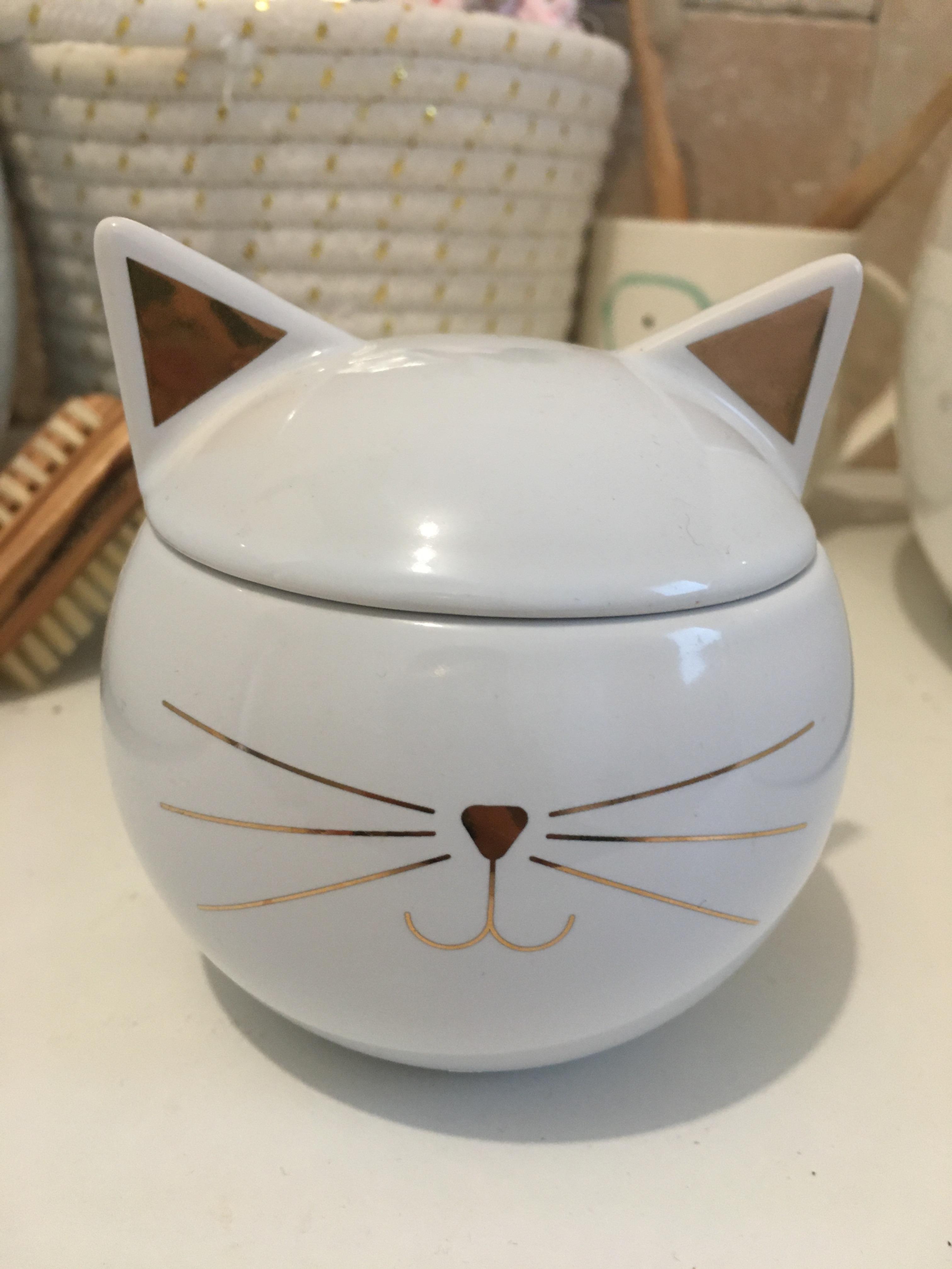 La boîte à bijoux céramique chat