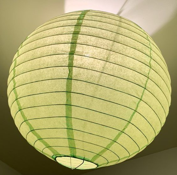 Boule japonaise en papier vert