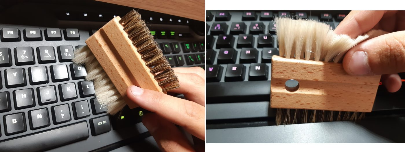 J'ai testé pour vous brosse pour clavier d'ordinateur Redecker  💻🖥