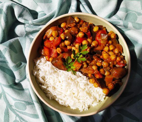 Curry aubergine