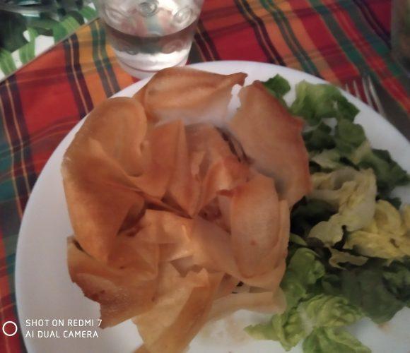 Feuilleté champignons poulet fromage