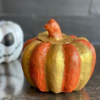 Ma citrouille DIY en Decopatch pour Halloween !