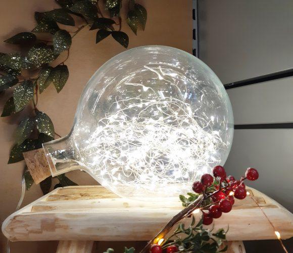 J'ai testé pour vous boule en verre 200 micro led blanc chaud D23cm