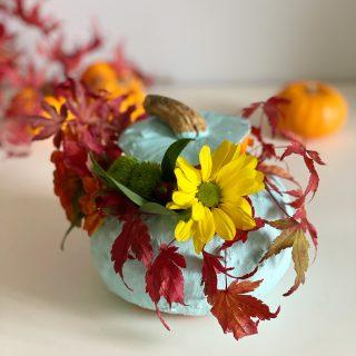 Ma citrouille fleurie DIY pour Halloween !