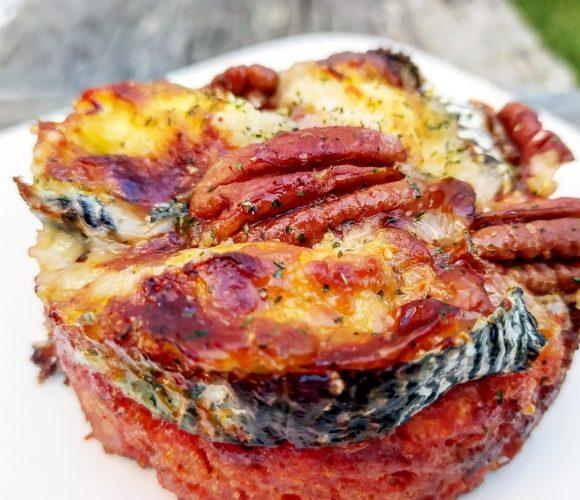 Cake salé chèvre tomate
