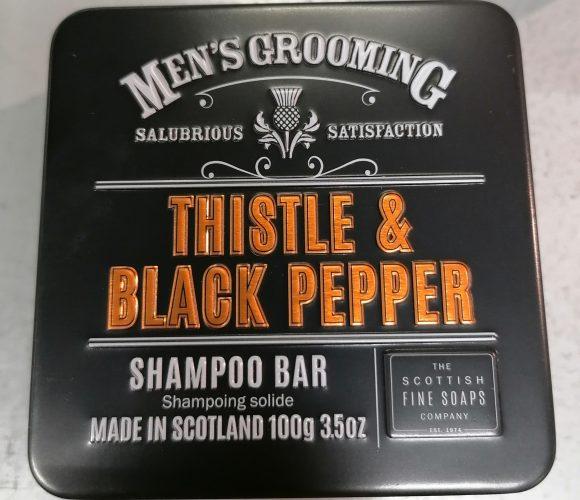 J'ai testé pour vous le shampooing Thistle & Black Pepper de Scottish Fine Soap