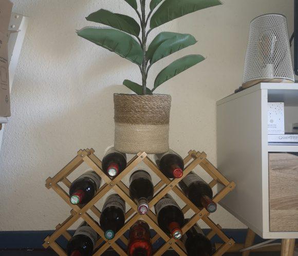 Casier à bouteilles en bambou