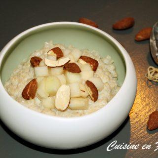 Porridge à la poire