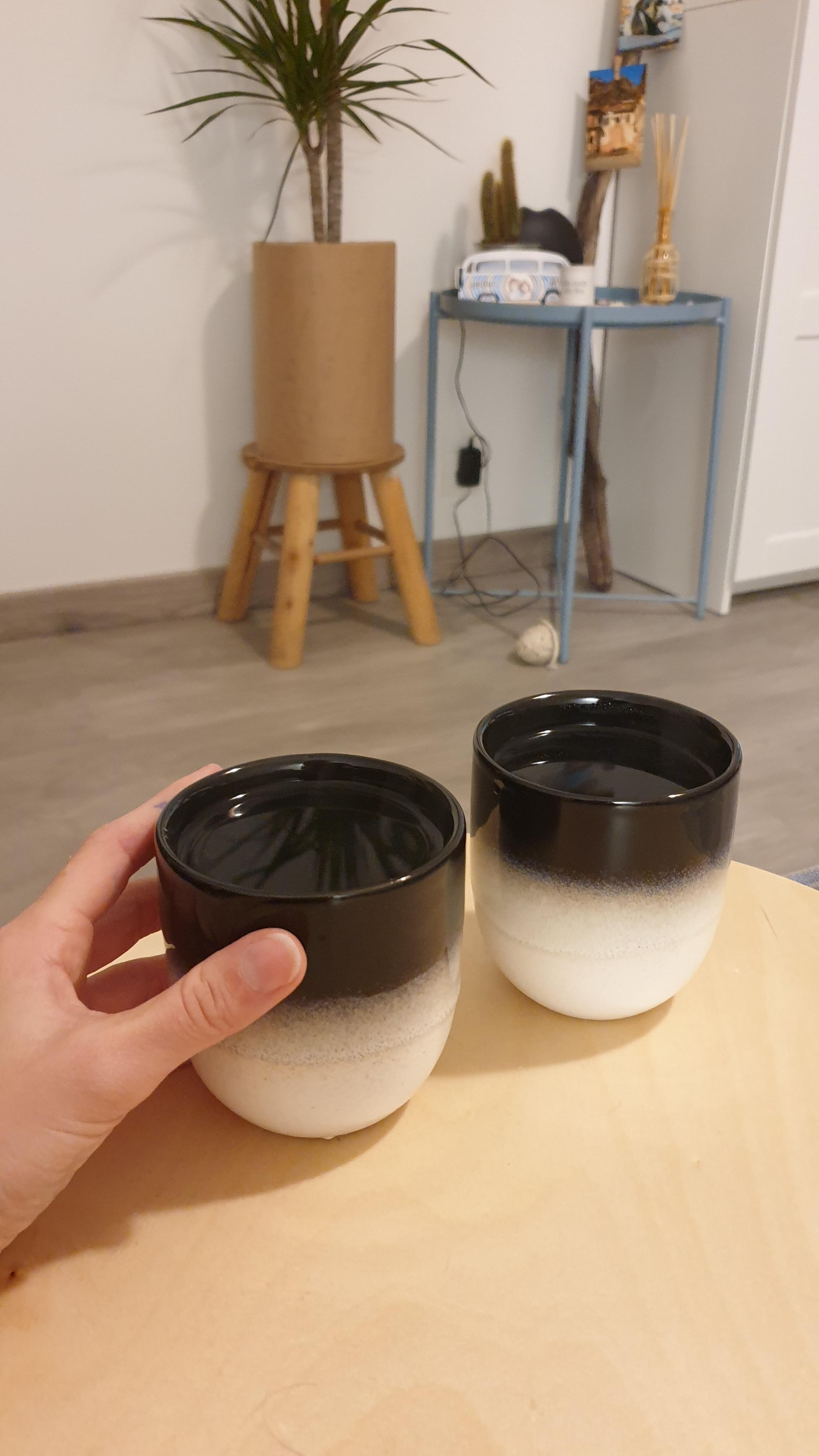 J'ai testé pour vous tasse à café dégradé noir et blanc