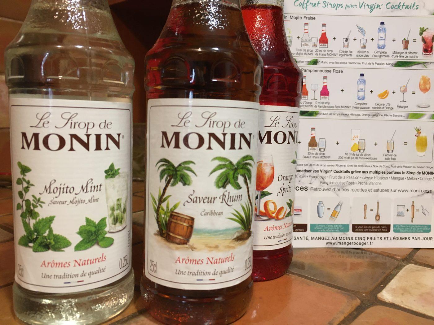 J'ai testé pour vous coffret cocktail sans alcool Mojito, Rhum, orange Spritz 3x25c Monin,