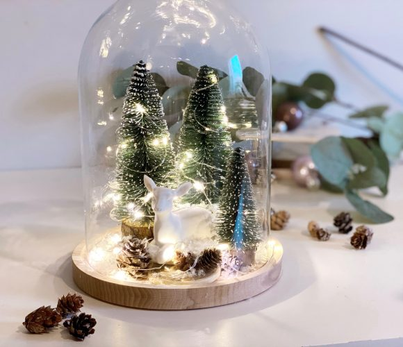 Je fais ma cloche déco lumineuse DIY pour Noël