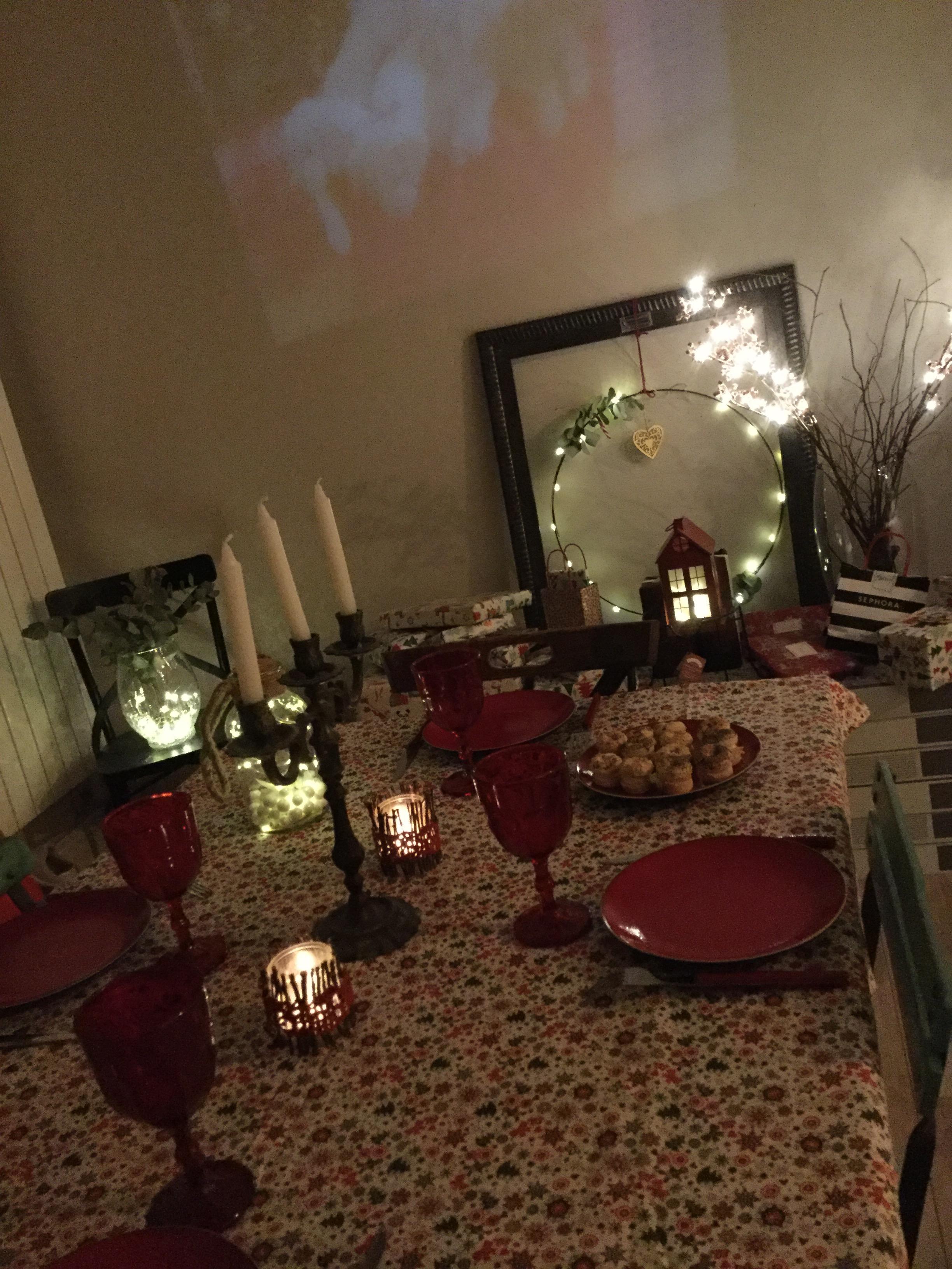 Deco de table de Noël