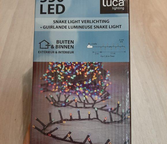 J'ai testé pour vous guirlande flicker multicolore 550 LED 11M